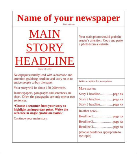 Publisher Newsletter Template Microsoft Newspaper Free Microsoft Publisher Newspaper Template Free