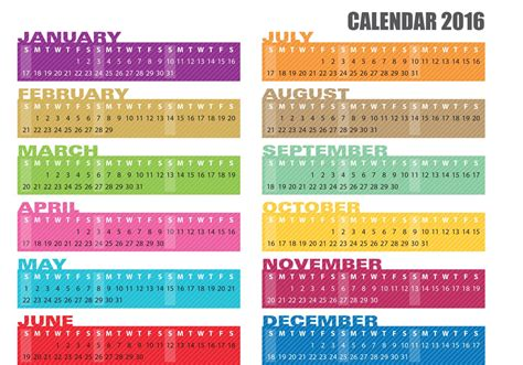 printable banner calendar 2016 calendar banner vectors 2016 download free vector art