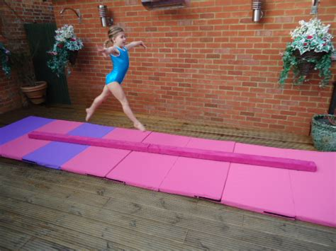 folding gymnastics balance beam 3 0 mtrs 10ft pink