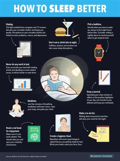 things to do before bed how to get better sleep business insider
