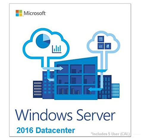 Microsoft Windows Server microsoft windows server datacenter 2016 64 bit 5cal 187 ms office works
