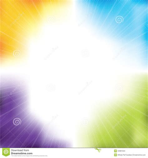 design free colorful background design with burst and hexagons stock images image 34981504