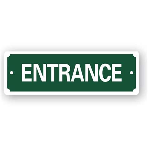 Online Home Design Free by Entrance Sign 200x65mm