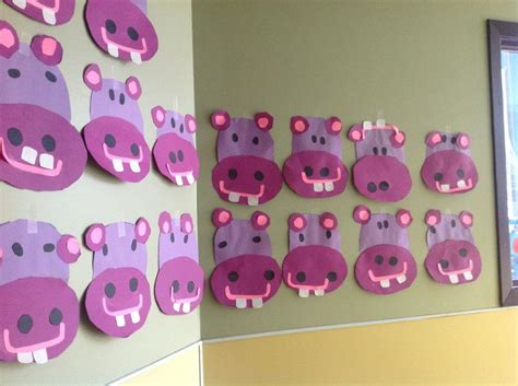 purple crafts for preschool hippo crafts