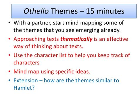main themes in othello list othello as a tragic hero