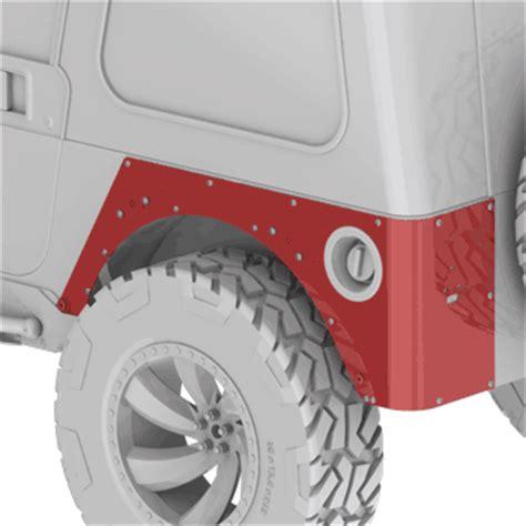 Jeep Tj Corner Guards Jeep Wrangler Tj Rock Biting Corner Guards