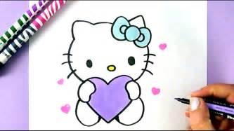 comment dessiner kitty dessin facile kawaii