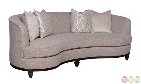 kidney sofa blair fawn transitional kidney sofa living room set