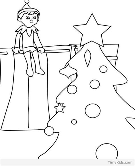 elf size coloring page 20 elf on the shelf coloring pages for kids timykids