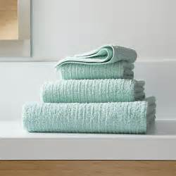 seafoam green bath towels ribbed seafoam bath towels crate and barrel