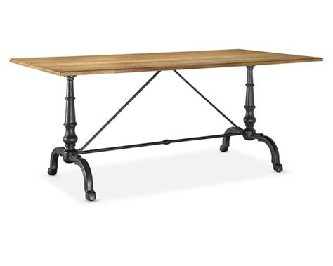 rectangular bistro table la coupole rectangular iron bistro table with wood top