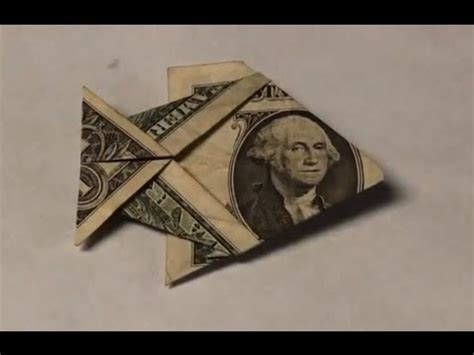 Easy Origami With Dollar Bills - dollar bill origami fish tutorial how to make an easy