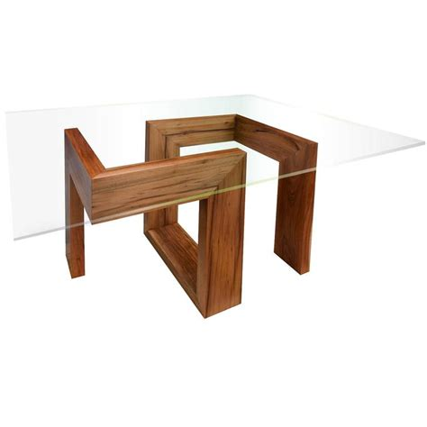 modern and contemporary design tables modern 21st century solid timber table with glass top for
