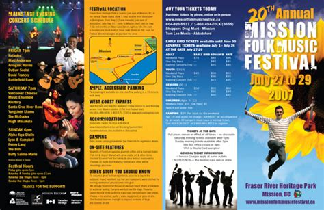 Festival Brochure Design by Mission Folk Festival Brochure