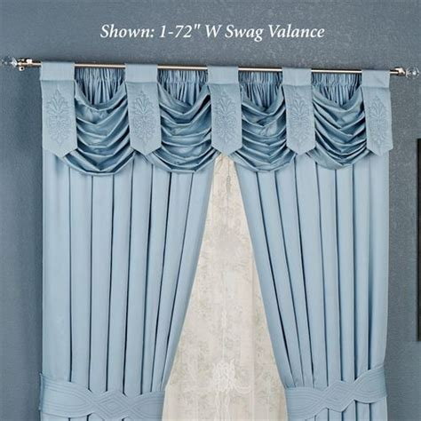 blue swag curtains evermore blue swag valance