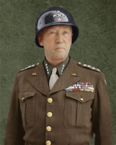 Home Garden Decor Store by General George Patton Color Tinted Photo World War Ii 2