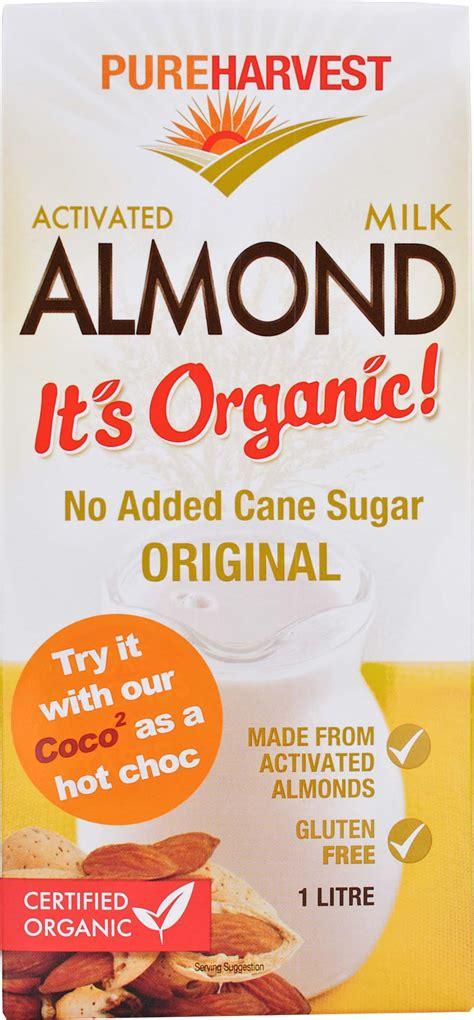 Almond Rawalmond Milk pureharvest activated almond milk pureharvest