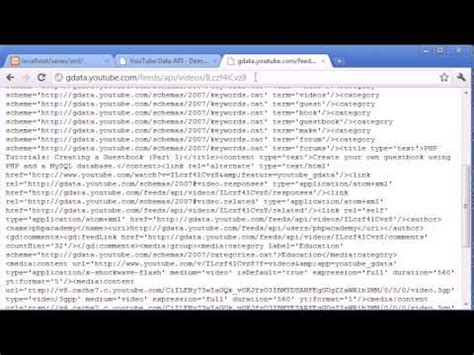 tutorial youtube php beginner php tutorial 107 a youtube xml exle