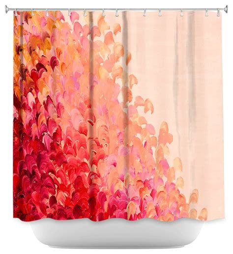 coral pink curtains shower curtain unique from dianoche designs creation in