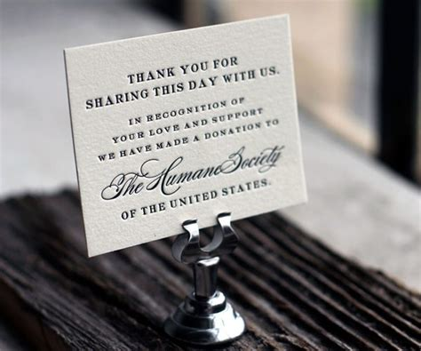 Wedding Favors Donation To Charity by Spread A With World Minded Letterpress Favor