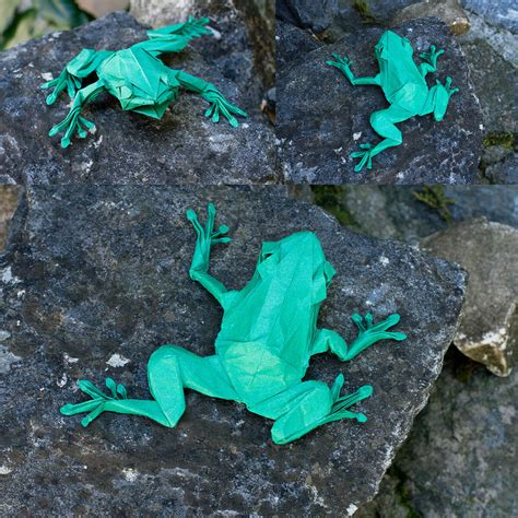 Origami Tree Frog - this week in origami july 10 2015 edition