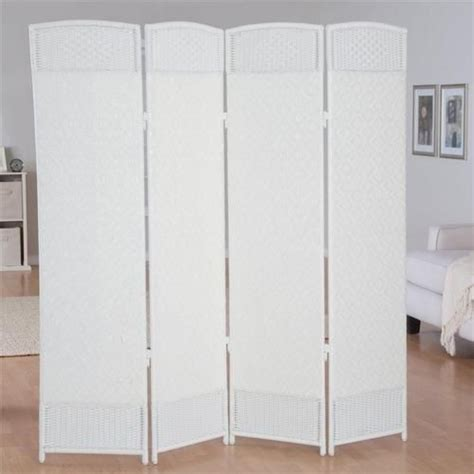 woven resin 4 panel indoor room divider outdoor privacy