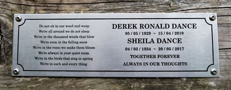 outdoor memorial plaques for benches garden bench plaque 28 images 100 garden bench plaque