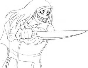 jeff the killer free coloring pages