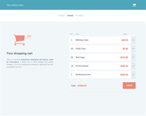 12 Ultimate Free Html5 And Css3 Checkout Forms Shopping Cart Html Template