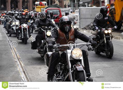 Bikers Brotherhood The Lost Mc protest of motorcycle clubs oslo editorial image image