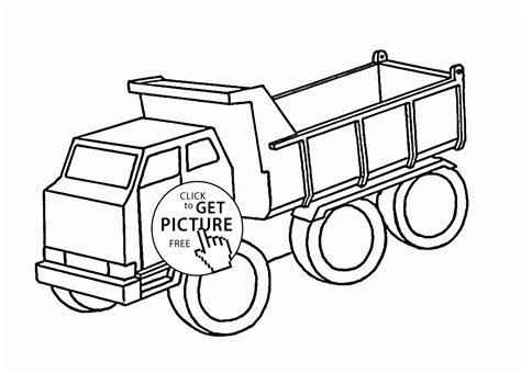 Simple Dump Truck Coloring Pages by Simple Dump Truck Coloring Page For Transportation