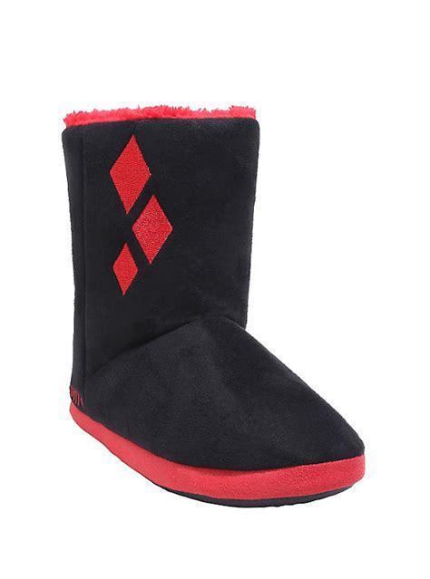 harley quinn slippers dc comics harley quinn slipper boots topic