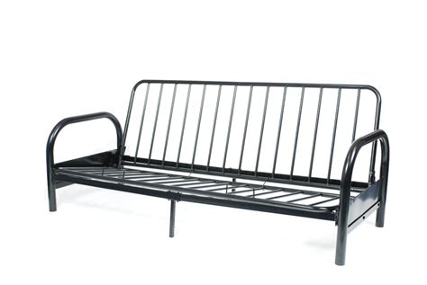 futon bed frame black metal futon frame