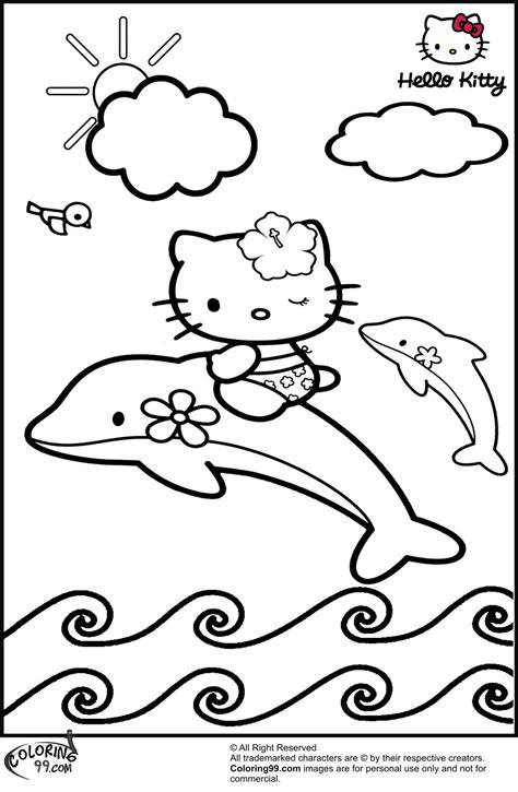 coloring pages hello kitty dolphin september 2013 team colors