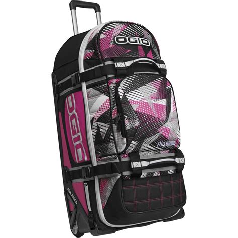 pink motocross gear bag ogio rig 9800 bolt pink gearbag mx luggage travel