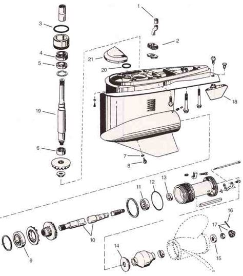 volvoomc cobra sx omc parts drawing  unit