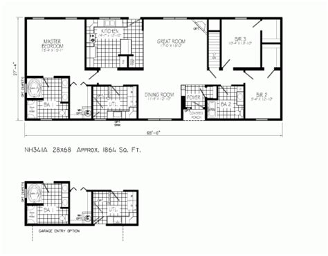 free modular home floor plans nh341a freehaven by mannorwood homes ranch floorplan