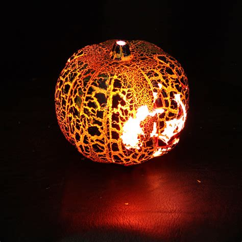 Buy Halloween Crack Pumpkin L Smiling Face Color Pumpkin Lights