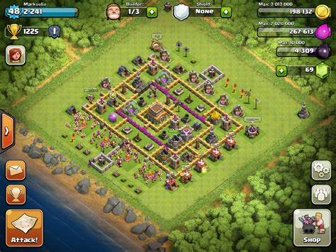 Best clash of clans th8 hybrid base