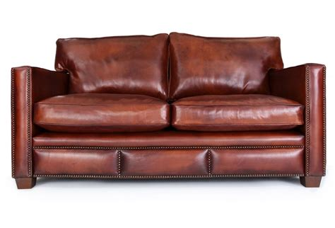 spitalfield original leather 2 seater sofa from boot