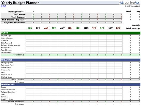 money planner template free money management template for excel
