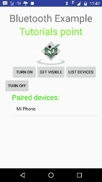 layoutinflater in android tutorial point android bluetooth