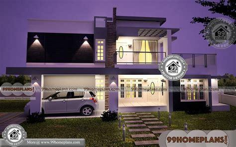 bedroom rectangular house plans double floor
