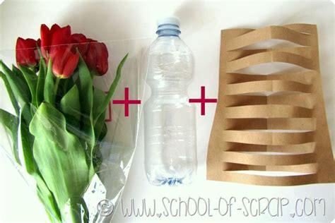 vasi con bottiglie plastica idee da 5 minuti facciamo un vaso design con carta e