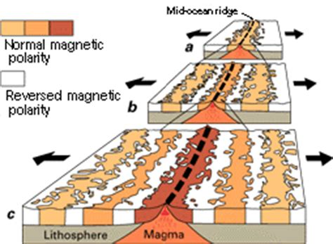 pattern of magnetic reversal earthquake glossary