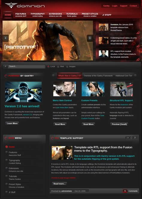 templates by regiswa dominion v1 5 3 update joomla