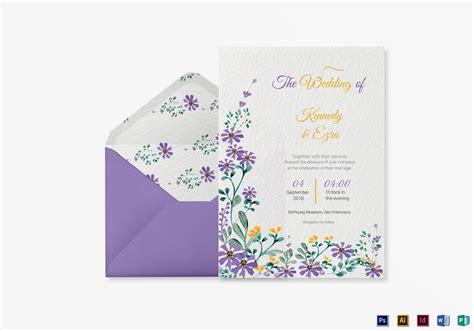 Garden Wedding Invitation Card Template In Psd Word Publisher Illustrator Indesign Garden Wedding Invitations Templates