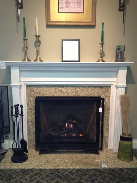 Kjb Fireplace by Direct Vent Gas Fireplace And Wood Mantel Traditional