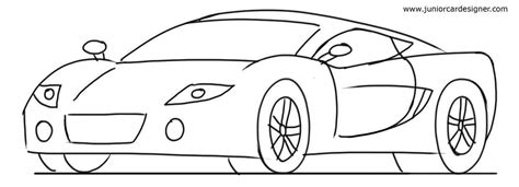 sports car drawing car drawing tutorial sports cars 3 4 front view junior