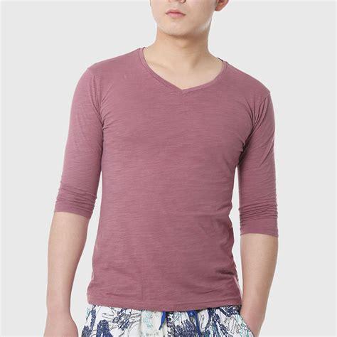 Tshirt Mhorpins 5 t shirts three quarter sleeve t shirts basic 2016 fashion t shirts for designer clothing